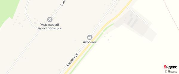 Садовая улица на карте села Сросты с номерами домов