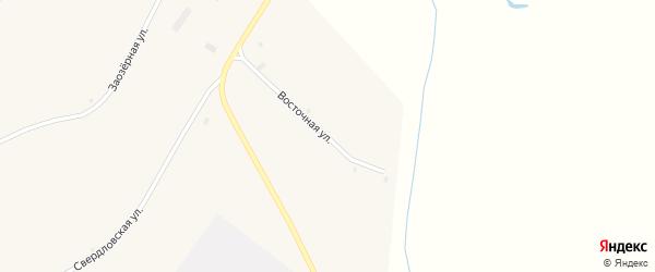 Восточная улица на карте села Сросты с номерами домов