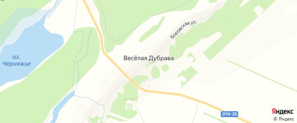 Карта поселка Веселой Дубравы в Алтайском крае с улицами и номерами домов