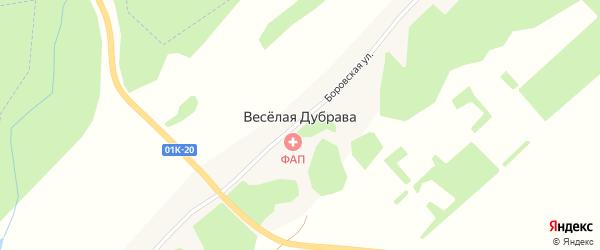Центральная улица на карте поселка Веселой Дубравы с номерами домов