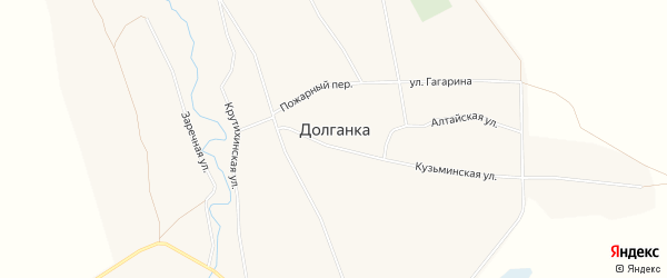 Карта села Долганки в Алтайском крае с улицами и номерами домов