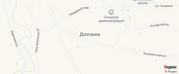 Крутихинская улица на карте села Долганки с номерами домов