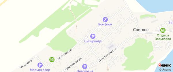 Улица Горького на карте Светлого села с номерами домов