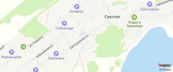 Центральная улица на карте Светлого села с номерами домов