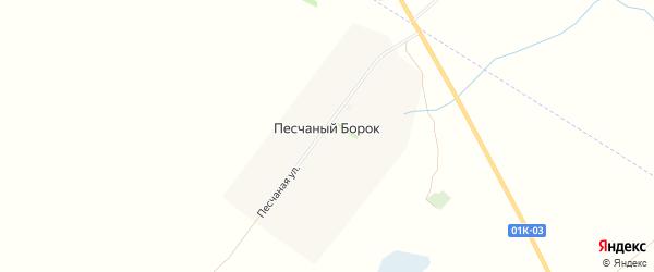 Карта поселка Песчаного Борка в Алтайском крае с улицами и номерами домов