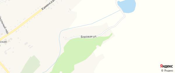 Боровая улица на карте села Корнилово с номерами домов