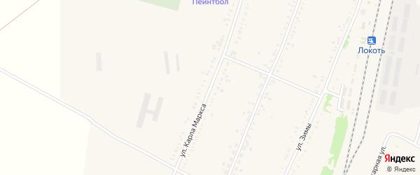 Улица Карла Маркса на карте села Веселоярска с номерами домов