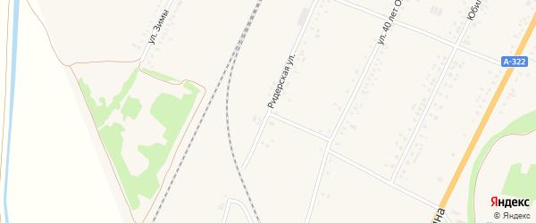 Ридерская улица на карте села Веселоярска с номерами домов