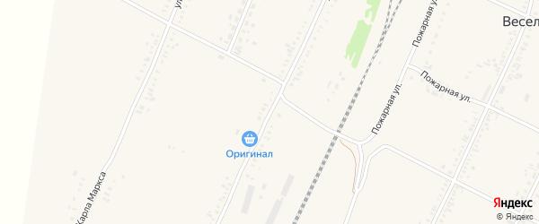Улица Зимы на карте села Веселоярска с номерами домов