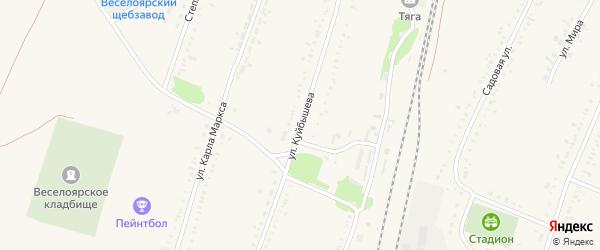 Улица Куйбышева на карте села Веселоярска с номерами домов