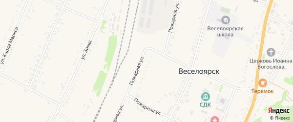 Железнодорожная улица на карте села Веселоярска с номерами домов
