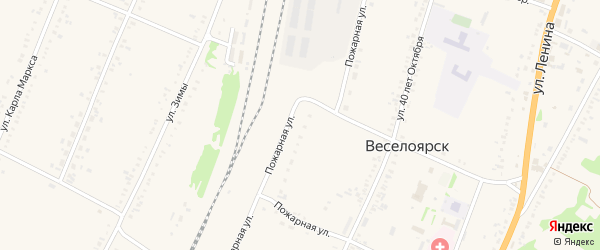 Луговая улица на карте села Веселоярска с номерами домов