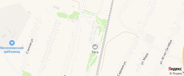 Железнодорожная улица на карте разъезда Зарницы с номерами домов
