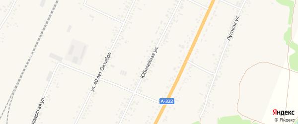 Юбилейная улица на карте села Веселоярска с номерами домов