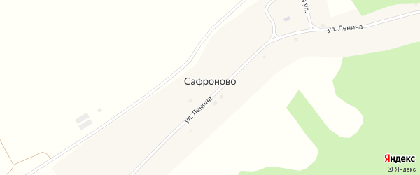 Школьная улица на карте села Сафроново с номерами домов