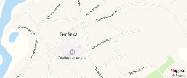 Зелёная улица на карте села Гилевки с номерами домов