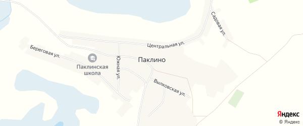 Карта села Паклино в Алтайском крае с улицами и номерами домов