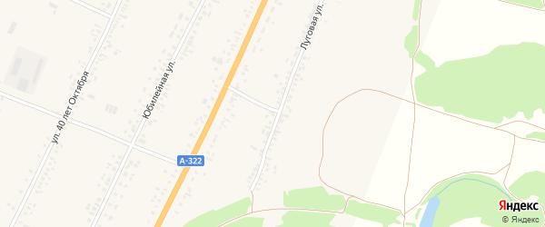 Луговая улица на карте садового некоммерческого товарищества N 15 с номерами домов