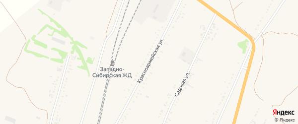 Красноармейская улица на карте села Веселоярска с номерами домов