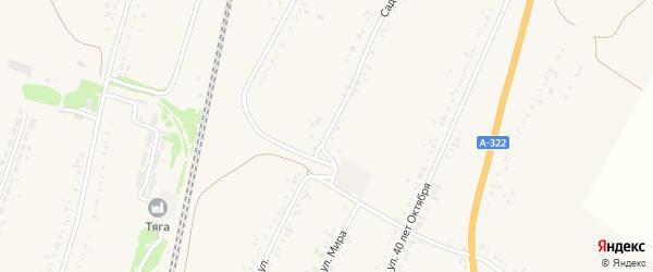 Садовая улица на карте села Веселоярска с номерами домов