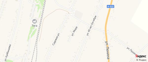 Улица Мира на карте села Веселоярска с номерами домов
