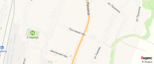Почтовый переулок на карте села Веселоярска с номерами домов