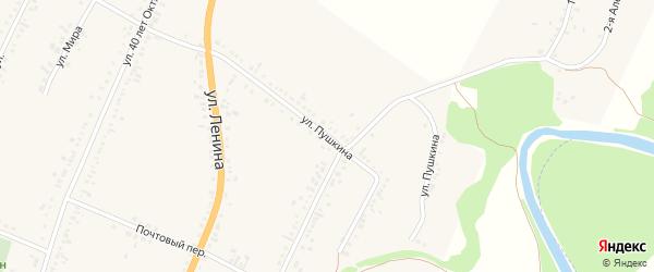 Улица Пушкина на карте села Веселоярска с номерами домов