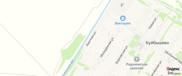 Арычная улица на карте поселка Куйбышево с номерами домов