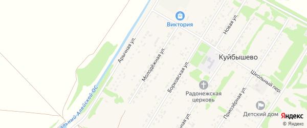 Молодежная улица на карте поселка Куйбышево с номерами домов