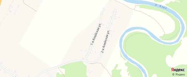 Алейская 1-я улица на карте села Веселоярска с номерами домов
