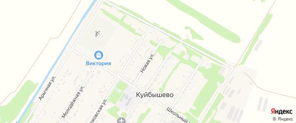 Новая улица на карте поселка Куйбышево с номерами домов