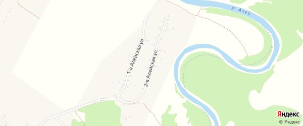 Алейская 2-я улица на карте села Веселоярска с номерами домов