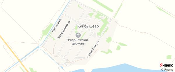Карта поселка Куйбышево в Алтайском крае с улицами и номерами домов
