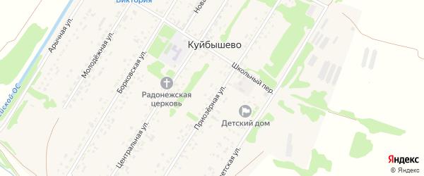 Борковская улица на карте поселка Куйбышево с номерами домов