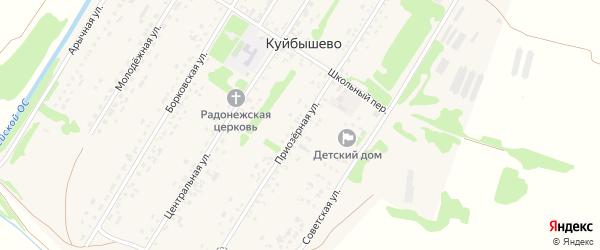 Приозерная улица на карте садового некоммерческого товарищества N 12 с номерами домов
