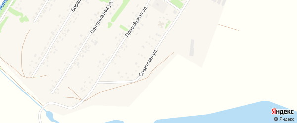Советская улица на карте поселка Куйбышево с номерами домов