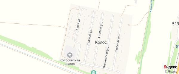 Садовая улица на карте поселка Колоса с номерами домов