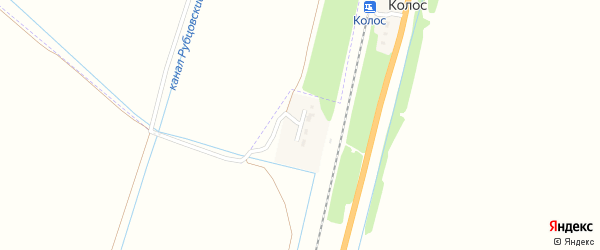 Вагонная улица на карте разъезда Колоса с номерами домов