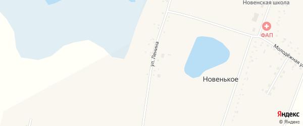 Улица Ленина на карте Новенького села с номерами домов