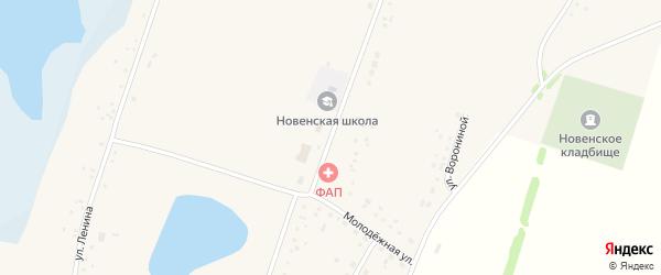 Улица 50 лет Октября на карте Новенького села с номерами домов