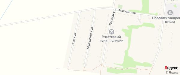 Молодежная улица на карте села Новоалександровки с номерами домов