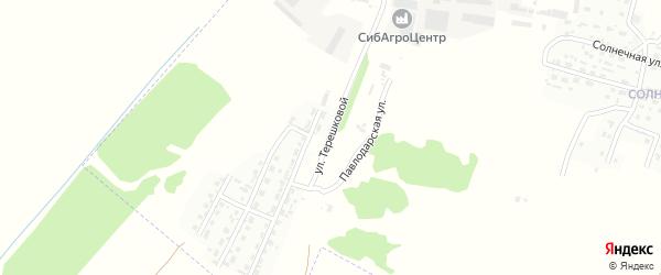 Улица Терешковой на карте Рубцовска с номерами домов