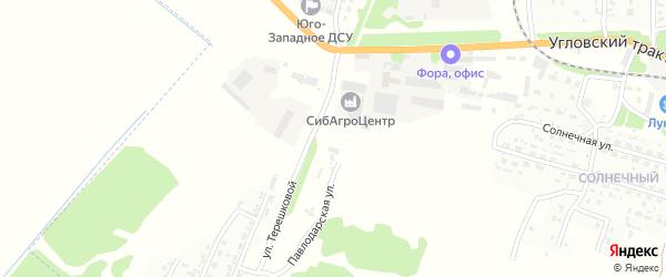 Павлодарская улица на карте Рубцовска с номерами домов