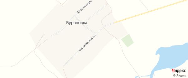 Карта поселка Бурановки в Алтайском крае с улицами и номерами домов