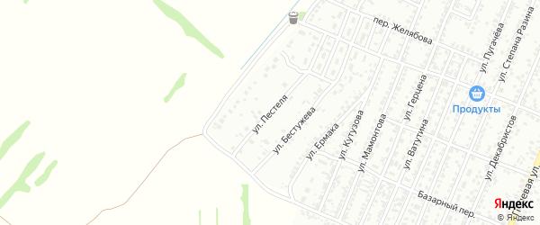Улица Пестеля на карте Рубцовска с номерами домов