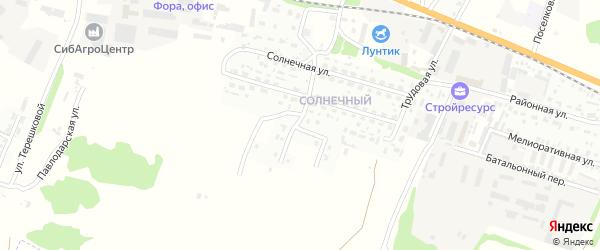 Раздольная улица на карте Рубцовска с номерами домов