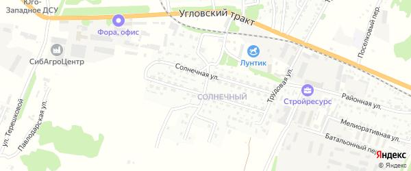 Солнечная улица на карте Рубцовска с номерами домов