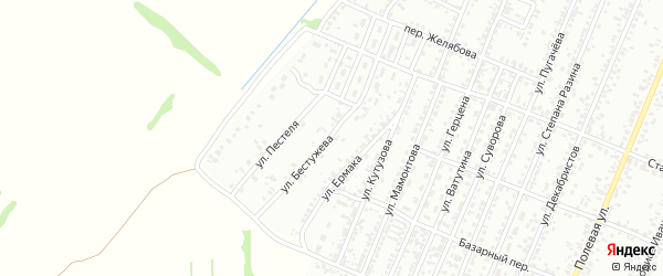 Улица Бестужева на карте Рубцовска с номерами домов