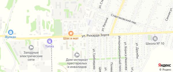 Улица Рихарда Зорге на карте Рубцовска с номерами домов
