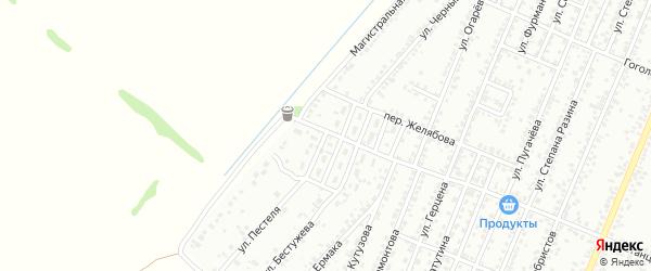 Улица Державина на карте Рубцовска с номерами домов